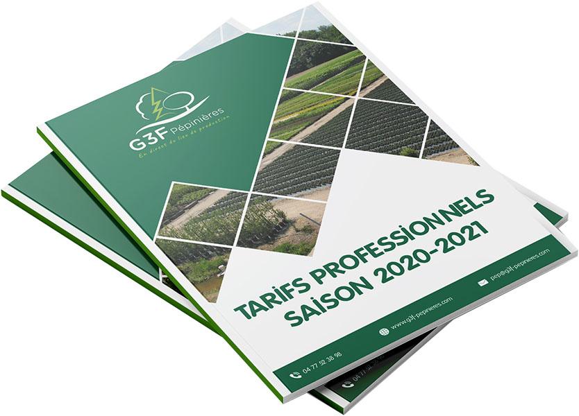 Catalogue Tarifs professionnels G3F Pépinières